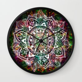 Rainforest Mandala Wall Clock