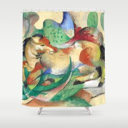 "Franz Marc ""Jumping Horse (Springendes Pferd)"" (I) Shower Curtain"