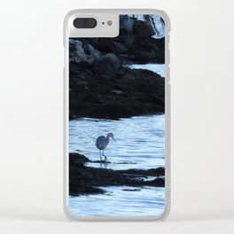 Great Blue Heron-Searching Stealthily Clear iPhone Case