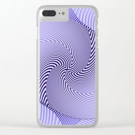 Twirled Stripes Clear iPhone Case