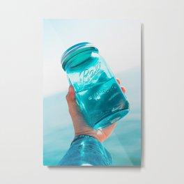 Glass Jars Metal Print