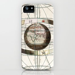 Keller's Harmonia Macrocosmica - Scenography of Ptolemaic Cosmography 1661 iPhone Case