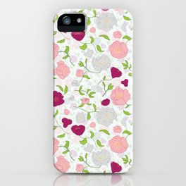 Positively Peonies Floral Pattern iPhone Case