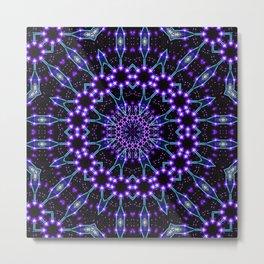 Light Structures Mandala Metal Print