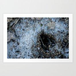 Icy Footprints Art Print