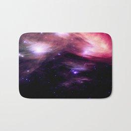 Galaxy : Pleiades Star Cluster nebUlA Purple Pink Bath Mat