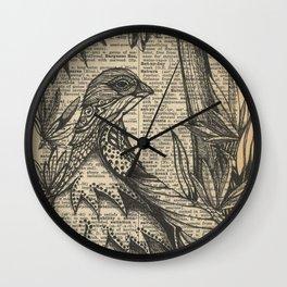Ptarmigan Wings Wall Clock