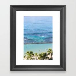 Waikiki Aerial // Vertical Framed Art Print