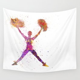 young woman cheerleader 02 Wall Tapestry