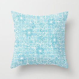 Be Square. Be Happy Blue. Throw Pillow
