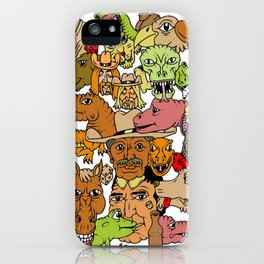 Colored Western Roundup iPhone Case