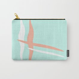 Turquoise & Coral (2) Carry-All Pouch