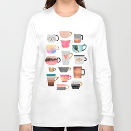 Coffee Cup Collection Long Sleeve T-shirt