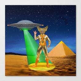 Ancient Vulcan Space Alien Canvas Print