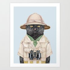 Safari Cat Art Print