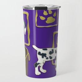 Purple puppy antics | Puppies at play Travel Mug