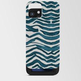 Zebra Print – Teal Palette iPhone Card Case