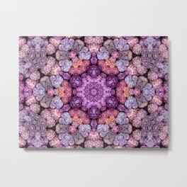 Hydrangea Kaleidoscope Metal Print