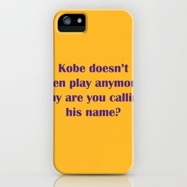 k bryant: gold iPhone Case