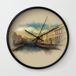 St. Petersburg, Moika river embankment. Wall Clock