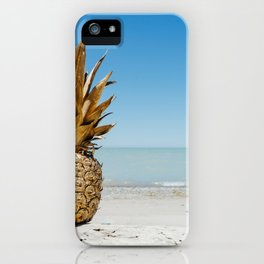 Golden Summer Pineapple iPhone Case
