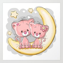 Love Moon Art Print