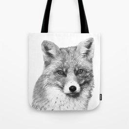 Black and White Fox Tote Bag