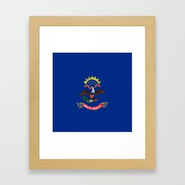 flag of north dakota,america,usa,midwest,dakotan, Roughrider,Flickertail,bismark,fargo,Peace Garden Framed Art Print