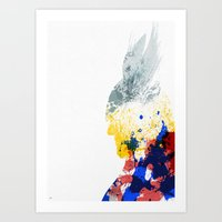 nordic Art Prints featuring Nordic Star by Arian Noveir