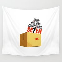 movie poster Wall Tapestries featuring Seven Movie Poster Se7en by FunnyFaceArt