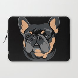 Blue & Tan Frenchie Laptop Sleeve