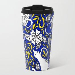 Tea Time Blue Travel Mug