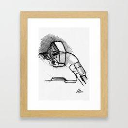 Warbot Sketch #060 Framed Art Print