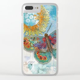 Sunny Dream Butterfly Clear iPhone Case