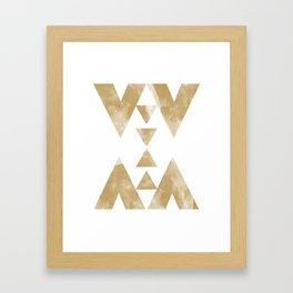 MOON MUSTARD Framed Art Print