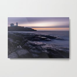 Nubble Light Sunrise Metal Print