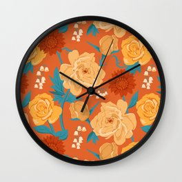 Paint by Number in Orange Wall Clock