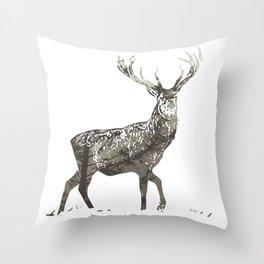 Elk in the Mist Throw Pillow