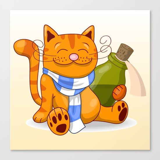 Happy Cat Canvas Print