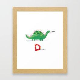 D is for Dinosaur Framed Art Print