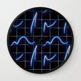 Postmodern Neon 80s Lights No.5 Wall Clock