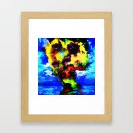 """""""Girl Built of Sky"""" by surrealpete Framed Art Print"""