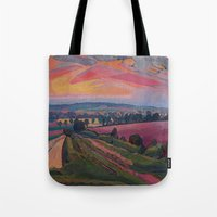 gore Tote Bags featuring Spencer Gore - The Icknield Way by ArtMasters