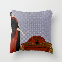 "Art Deco Design ""Emerald Eyes Throw Pillow"