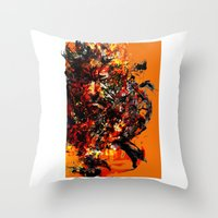 metal gear solid Throw Pillows featuring metal gear by ururuty