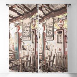 Vintage Gas Station On Historic Route 66 Photo | Arizona Roads Art Print | USA Travel Photography Blackout Curtain