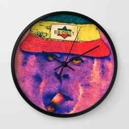Rasta monkey Wall Clock