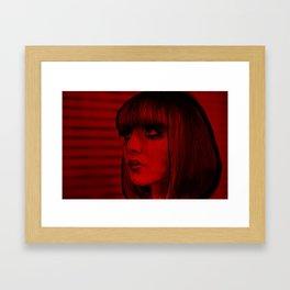 Red Doll Framed Art Print