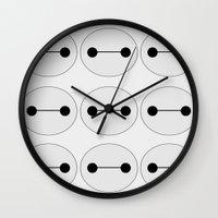baymax Wall Clocks featuring Baymax by BlondieAu