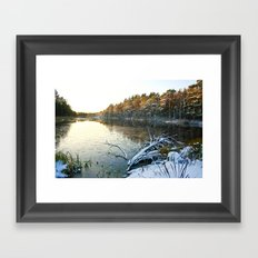 Frosted Sunset Framed Art Print